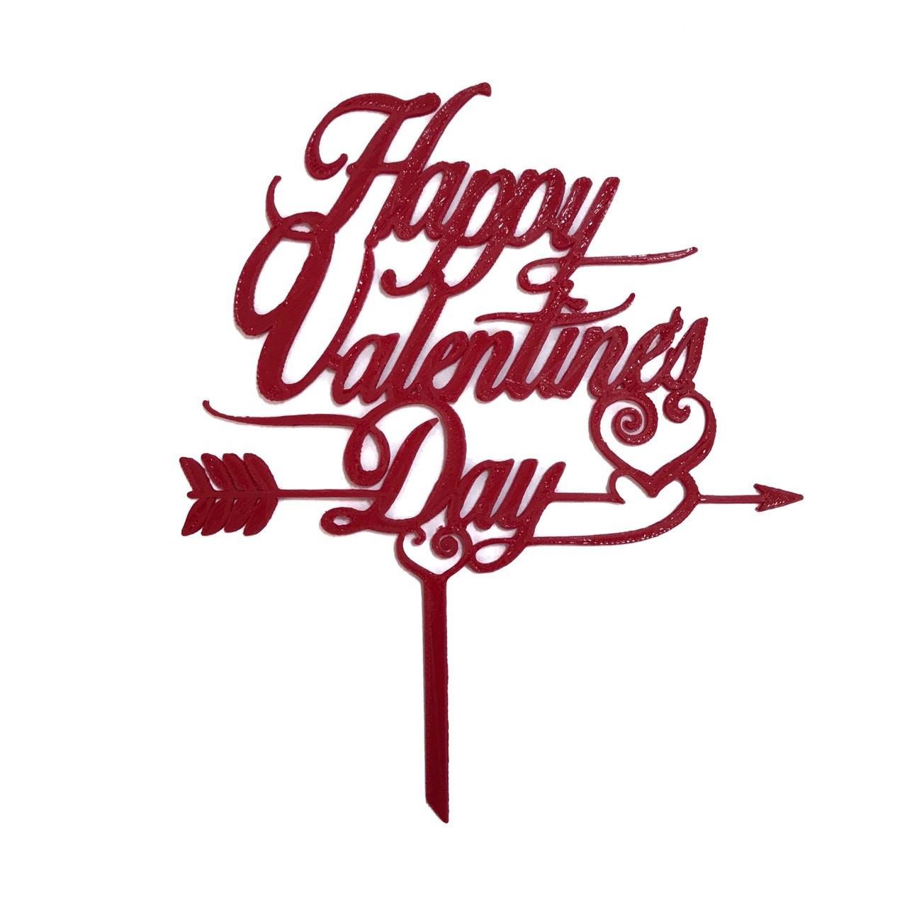 """Топпер """"Happy Valentine`s Day"""" красный"""