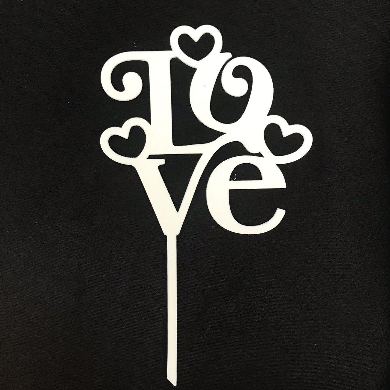 """Топпер """"Love"""" белый"""