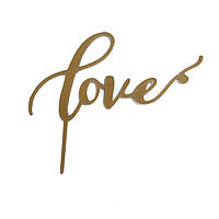 """Топпер """"Love"""" золото"""