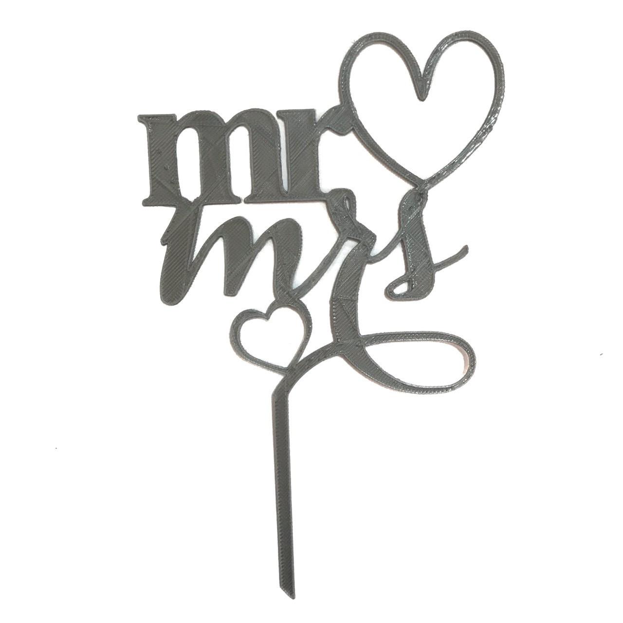"""Топпер """"Mr&Mrs"""" серый"""