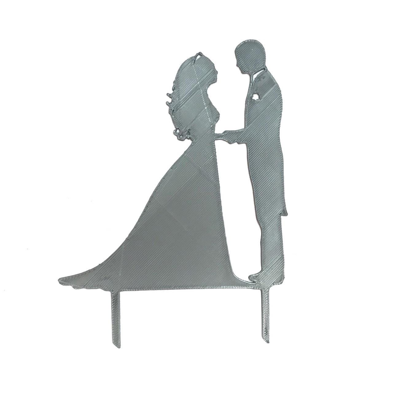 """Топпер """"Жених и невеста"""" серый"""