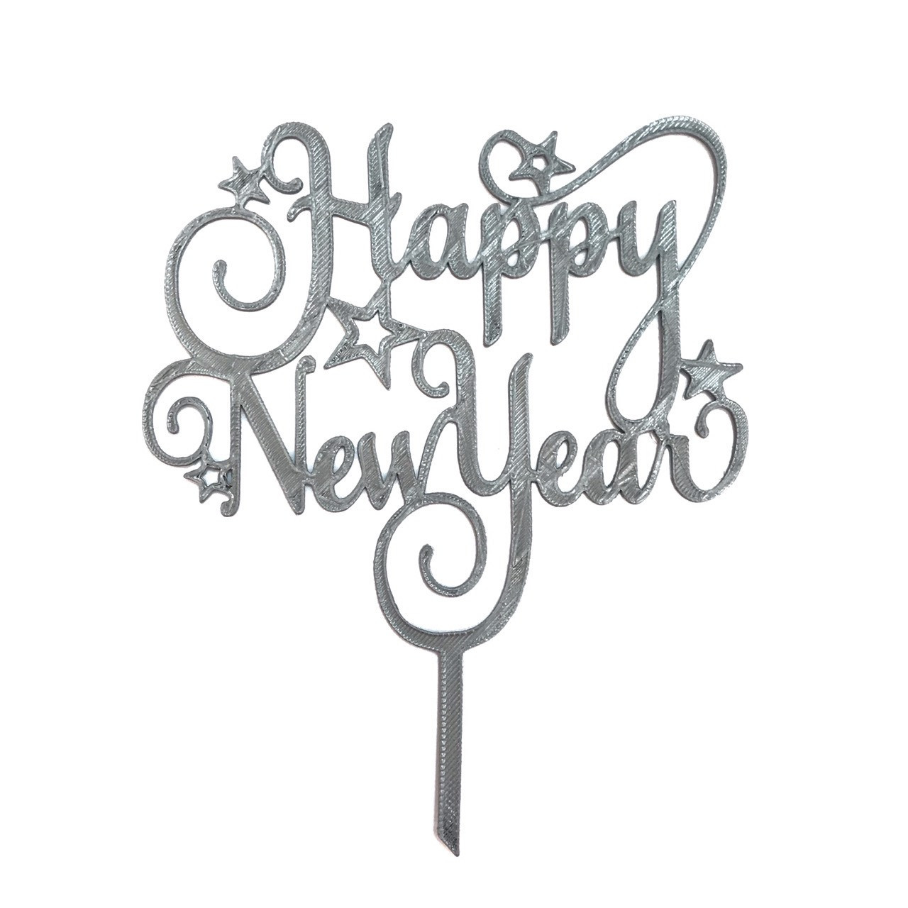 """Топпер """"Happy New Year"""" серый"""