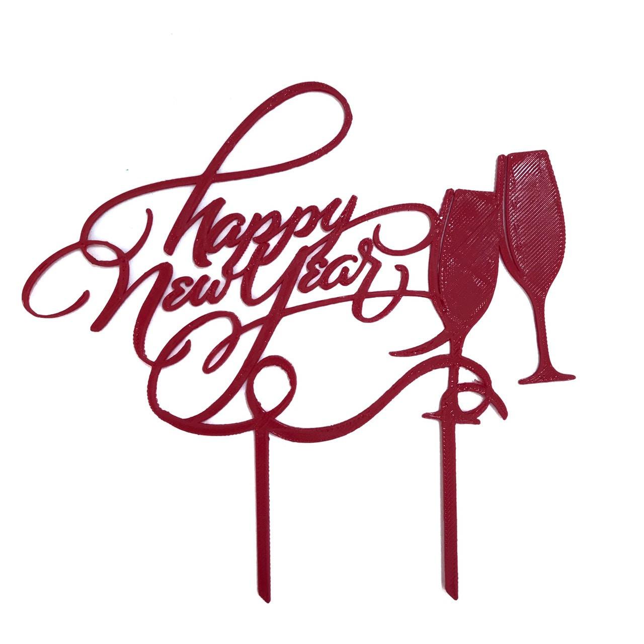 "Топпер ""Happy New Year"" красный"