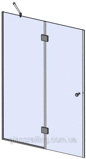 Скляна душова перегородка з глухі боковим склом