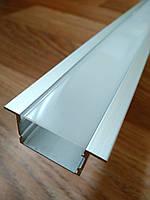 Профиль алюминиевый врезной ЛПВ20 20х30 анодированный (планка 2м) + рассеиватель, фото 1