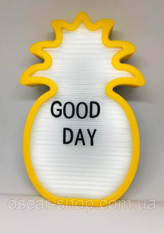 Нічник світильник Ананас Light up message board
