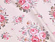 Сатин (хлопковая ткань) розы розово-бежевые (новые), фото 2