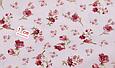 Сатин (бавовняна тканина) троянди червоні дрібні (нова), фото 3
