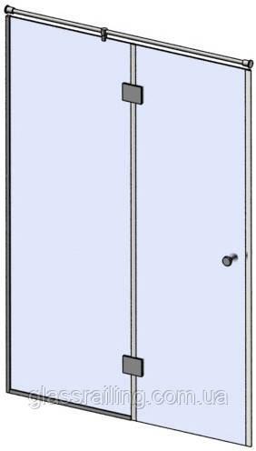 Скляна душова перегородка з глухим боковим склом