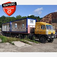 Блок-контейнер (6 х 7.2 м.), прорабская, офис, штабная, на основе цельно-сварного металлокаркаса., фото 2