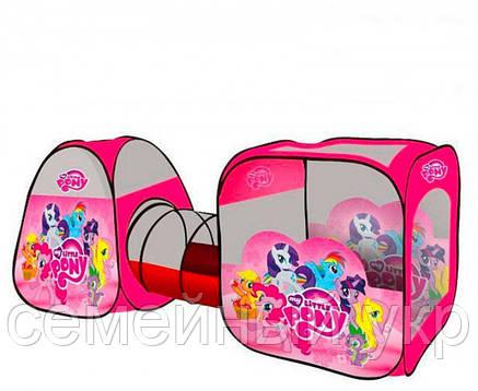 Палатка с тоннелем для детей 234х92х73 см, фото 2