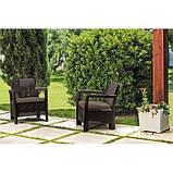 Набір садових меблів Tarifa 2 X Chairs з штучного ротанга ( Allibert by Keter ), фото 3