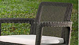 Набір садових меблів Tarifa 2 X Chairs з штучного ротанга ( Allibert by Keter ), фото 6