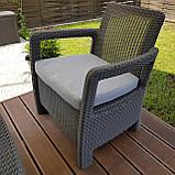 Набір садових меблів Tarifa 2 X Chairs з штучного ротанга ( Allibert by Keter ), фото 8