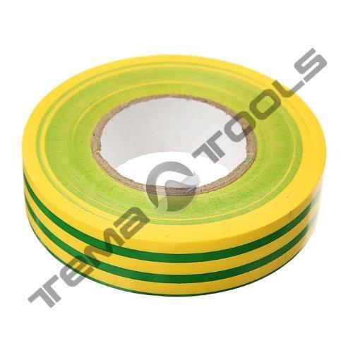 Лента изоляционная (изолента) ПВХ 0,13 мм x 19 мм x 20 м желто-зеленая