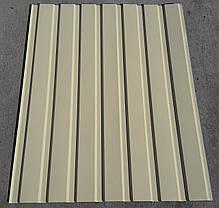 Профнастил для забору, колір: Бежевий ПС-20, 0,35 мм; висота 2,0 метра ширина 1,16 м, фото 3