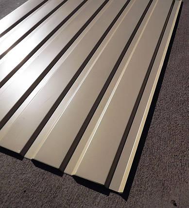Профнастил для забору, колір: Бежевий ПС-20, 0,35 мм; висота 2,0 метра ширина 1,16 м, фото 2