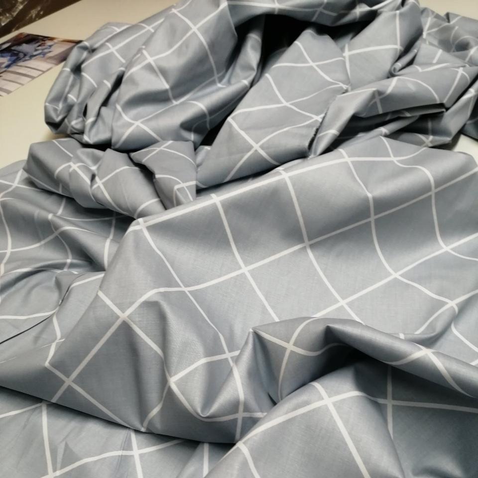 Сатин ромб серый 220 см