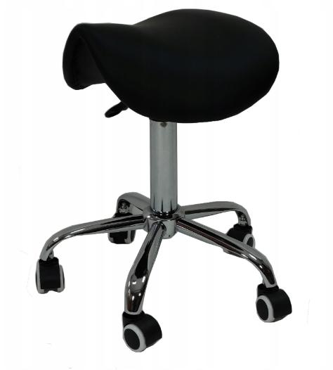 Косметический стул без спинки с гидравлической регулировкой высоты черный