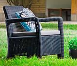 Набір садових меблів Tarifa 2 X Chairs з штучного ротанга ( Allibert by Keter ), фото 10
