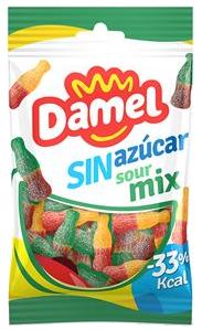 Жуйки Damel 100г без цукру Sour mix кислинки, 18шт/ящ 63138