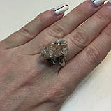 Арагонит кольцо с арагонитом кольцо с камнем арагонит в серебре размер 17,2 Индия, фото 3
