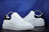 Мужские белые кожаные кеды, криперы в стиле Alexander McQueen, фото 5