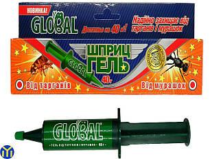 Шприц-гель Глобал 40г от тараканов и муравьев