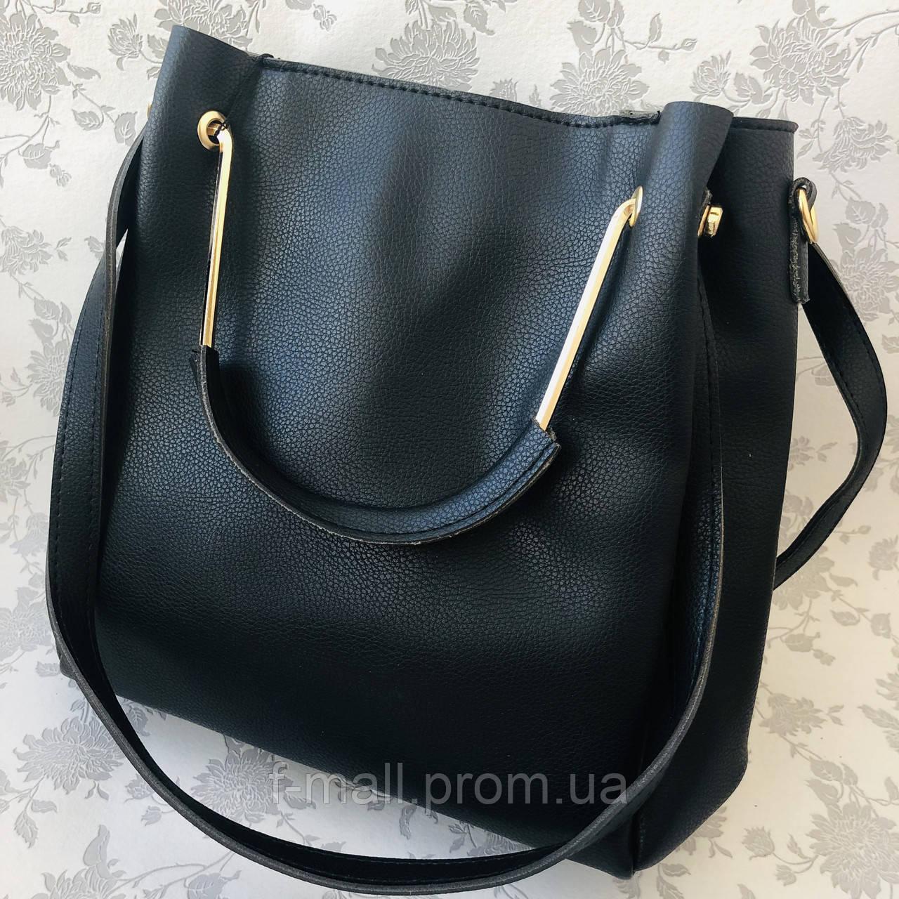 Женская сумка черная  (064-Т)