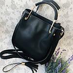 Женская сумка черная  (064-Т), фото 3