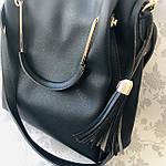 Женская сумка черная  (064-Т), фото 8