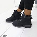 Женские демисезонные ботинки черного цвета, из эко кожи 40 ПОСЛЕДНИЙ РАЗМЕР, фото 2