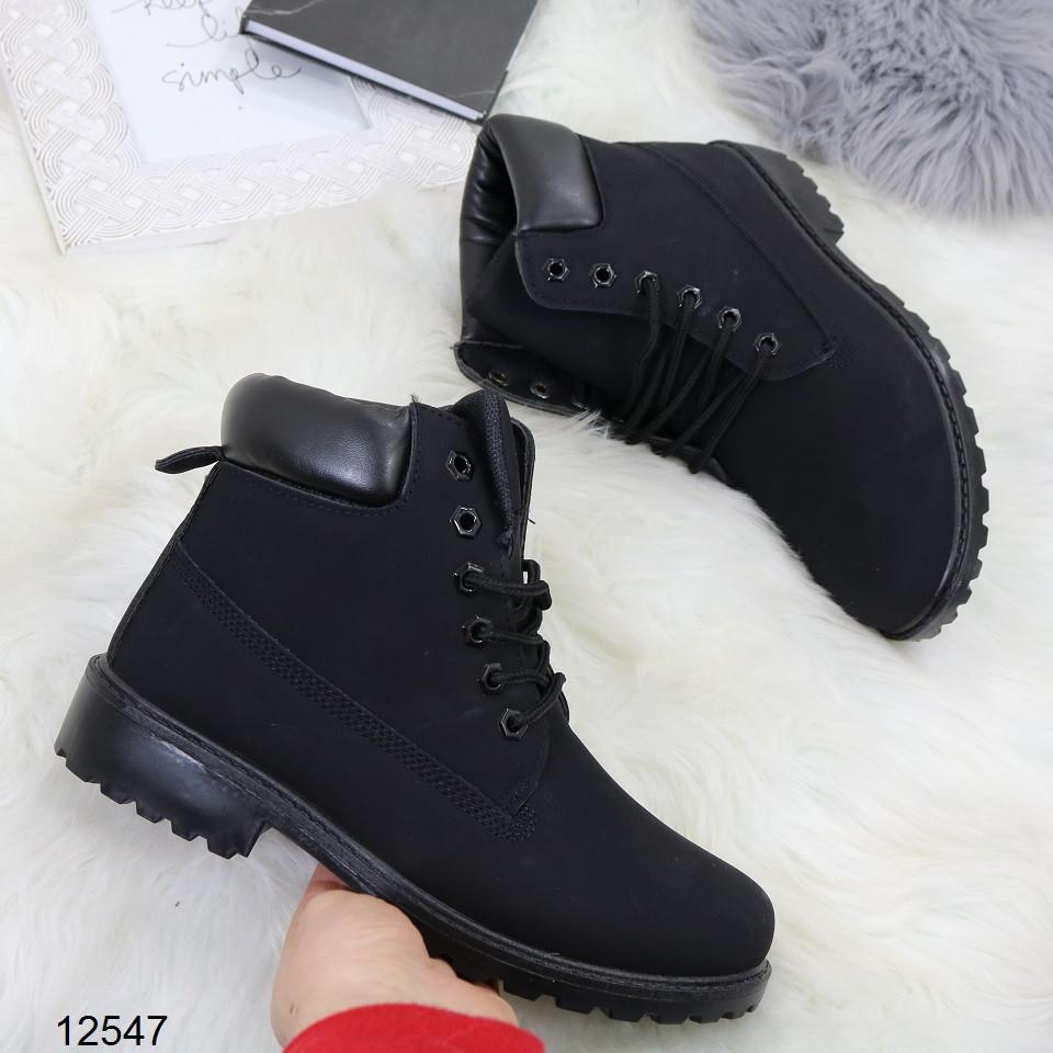Женские демисезонные ботинки черного цвета, из эко кожи 40 ПОСЛЕДНИЙ РАЗМЕР