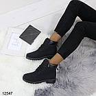 Женские демисезонные ботинки черного цвета, из эко кожи 40 ПОСЛЕДНИЙ РАЗМЕР, фото 7