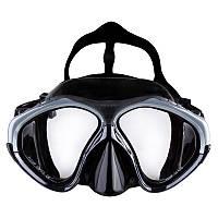 Маска для дайвинга подводная для подводного плавания Dolvor Силикон Поликарбонат Серебро (СМИ М209S)