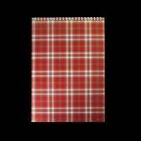 Блокнот на пружині зверху SHOTLANDKA, А4, 48 аркушів, клітинка, бордовий
