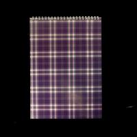 Блокнот на пружині зверху SHOTLANDKA, А4, 48 аркушів, клітинка, фіолетовий