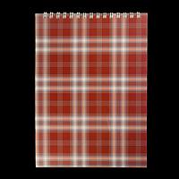 Блокнот на пружині зверху SHOTLANDKA, А5, 48 аркушів, клітинка, бордовий