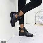 Демисезонные женские ботинки черного цвета, из эко кожи 40 ПОСЛЕДНИЙ РАЗМЕР, фото 2