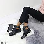 Демисезонные женские ботинки черного цвета, из эко кожи 40 ПОСЛЕДНИЙ РАЗМЕР, фото 3