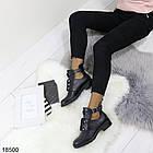 Демисезонные женские ботинки черного цвета, из эко кожи 40 ПОСЛЕДНИЙ РАЗМЕР, фото 5