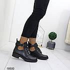 Демисезонные женские ботинки черного цвета, из эко кожи 40 ПОСЛЕДНИЙ РАЗМЕР, фото 6