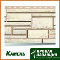 """Фасадная панель """"Камень"""", цвет: Белый; 1,13х0,475м"""