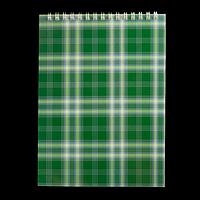 Блокнот на пружині зверху SHOTLANDKA, А5, 48 аркушів, клітинка, зелений