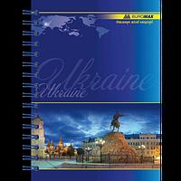 Записна книжка на пружині MY COUNTRY, А6, 96 акркушів, клітинка, фото 1