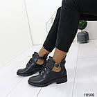 Демисезонные женские ботинки черного цвета, из эко кожи 40 ПОСЛЕДНИЙ РАЗМЕР, фото 7