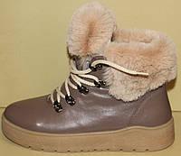 Ботинки женские зимние кожаные на платформе от производителя модель АС13-2, фото 1