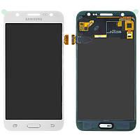 Дисплей Samsung J500 Galaxy J5, белый, с сенсорным экраном, с регулировкой яркости, (TFT), Сopy