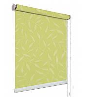 Рулонные шторы ткань НАТУРА 2257 салатовый цвет
