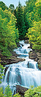 Фотообои на дверь: Водопад в лесу, 86х200 см